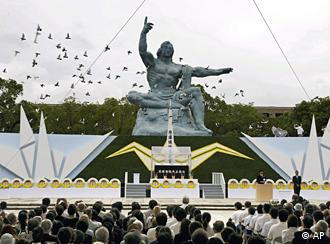 Representatives of 32 countries attended the ceremony in Nagasaki on 9 Aug. 2010