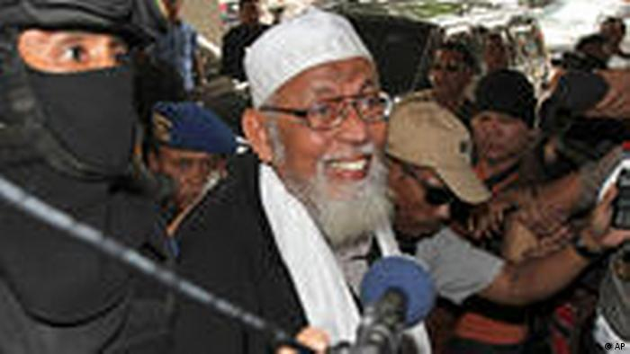 Abu Bakar Bashir Indonesien Anti Terror Jakarta Bali Bombe (AP)