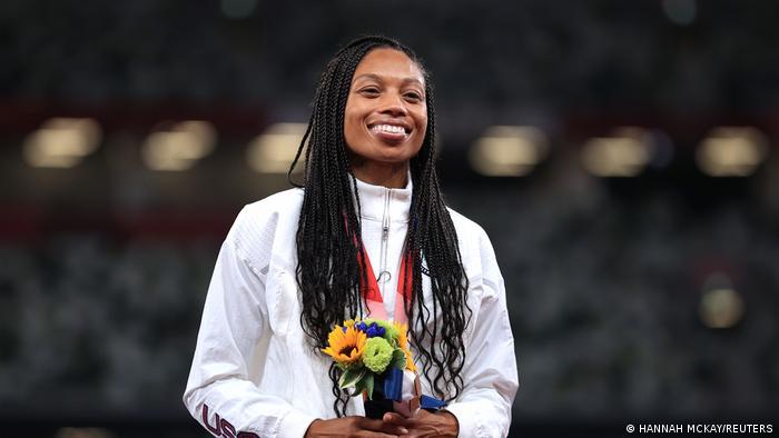 Sprinter Allyson Felix dari AS sabet medali perungu di nomor 400m