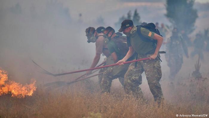 Waldbrände in Nordmazedonien