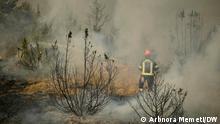 Waldbrände in Nordmazedonien - Kritische Lage, Dorf Macevo. 06.08.2021 Arbnora Memeti