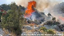 1. Fires in Kukes region,( North - Easter Albania) Author: Press Office, Albania Ministry of Defense