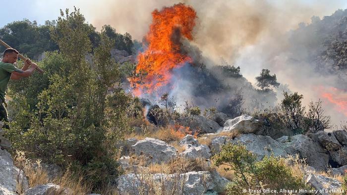وزیر دفاع آلبانی اعلام کرده که کشورش از دیگر کشورها برای خاموش کردن آتش سوزیها درخواست کمک کرده است.