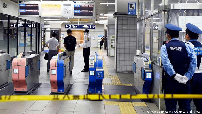 Japan Messerstecherei am Bahnhof Soshigaya Okura