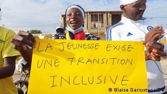 Manifestation à N'Djamena du mouvement d'opposition Wakit-Tama le 7 août 2021 pour demander une transition inclusive.