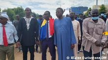 7. August 2021 Demonstration der Wakit Tama-Bewegung gegen den Übergang im Tschad in N'Djamena