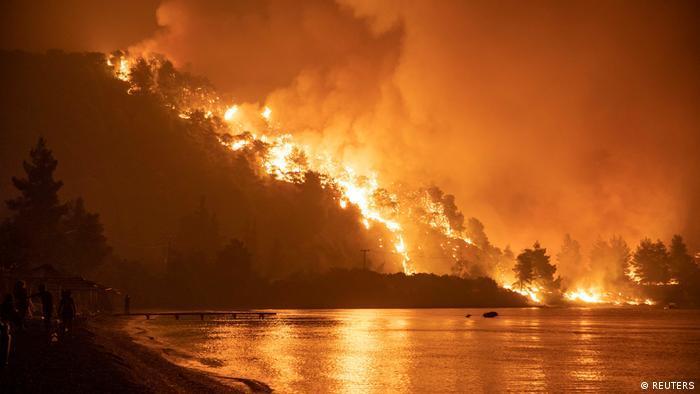 Лісова пожежа на Евбеї