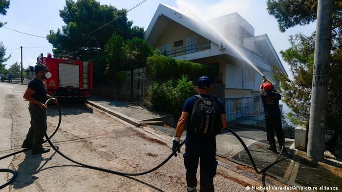 Griechenland I Waldbrände in Evia I 07/08/2021