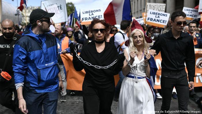 07/08/2021 I Frankreich I Corona-Proteste in Paris
