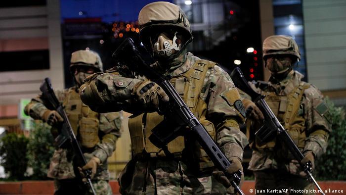 Foto simbólica de soldados de Bolivia.