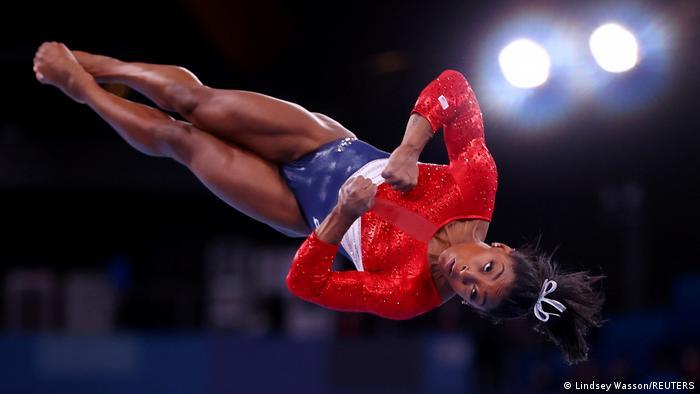 Atlet atletik ringan Simone Biles dari AS