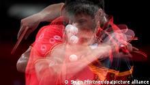 06/08/2021* Tischtennis/Mannschaft, Männer: Olympia, China - Deutschland, Finale im Metropolitan Gymnasium. Dimitrij Ovtcharov aus Deutschland.