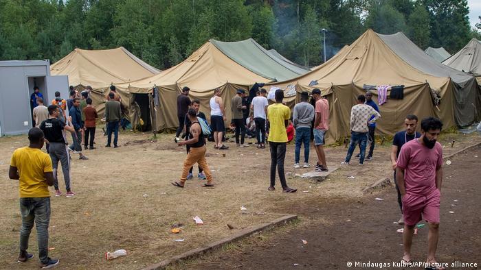 Лагерь беженцев в Литве