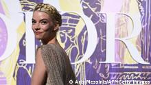 US-born Argentine-British actress and model Anya Taylor-Joy poses during the photocall before the 2022 Dior Croisiere (Cruise) fashion show, at the Panathenaic Stadium, in Athens, on June 17, 2021. (Photo by ARIS MESSINIS / AFP) (Photo by ARIS MESSINIS/AFP via Getty Images)