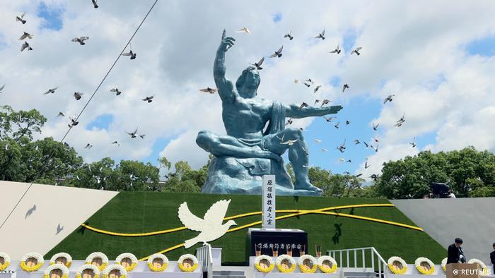 Friedensstatue in Nagasaki