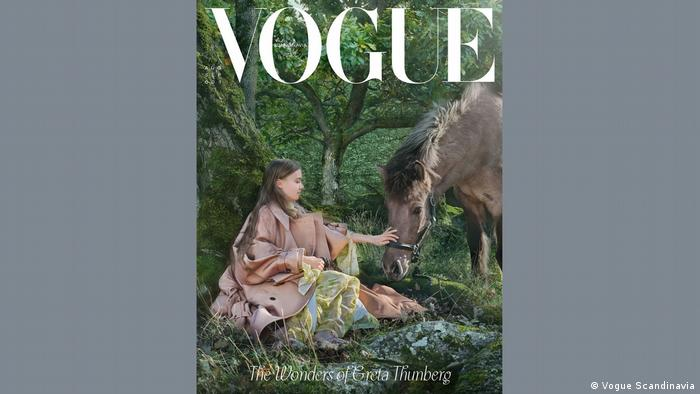 Greta Thunberg wore recyclable clothing for the Vogue photoshoot