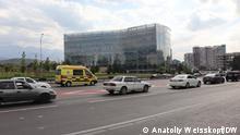 Krankenwagen in Alma-Ata (Almaty) Aufgenommen in Alma-Ata im August 2021