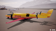 DHL Express startet in emissionsfreie Zukunft der Luftfahrt: Kauf der ersten vollständig elektrischen Frachtflugzeuge von Eviation. dhl-eviation-alice-apron