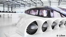 7-Seater Lilium Jet full-scale model close up
