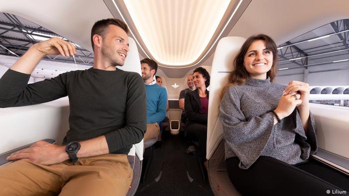 Модель салона электросамолета Lilium на шесть пассажиров