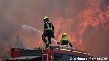 Waldbrände in Nordmazedonien, Dramatische Lage in die Nähe von Pehcevo in Ost-Nordmazedonien. 09.08.2021