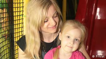 Елена Герман с дочкой