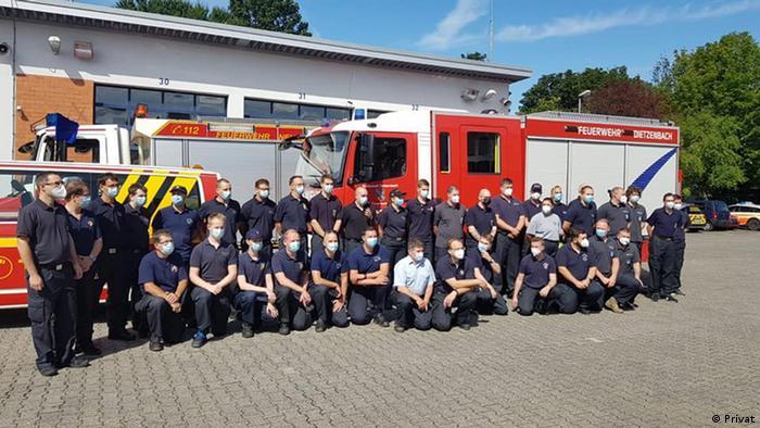 Griechenland Waldbrände | Einsatz der Hessischen Feuerwehren | Nikolaos Michos mit Kollegen