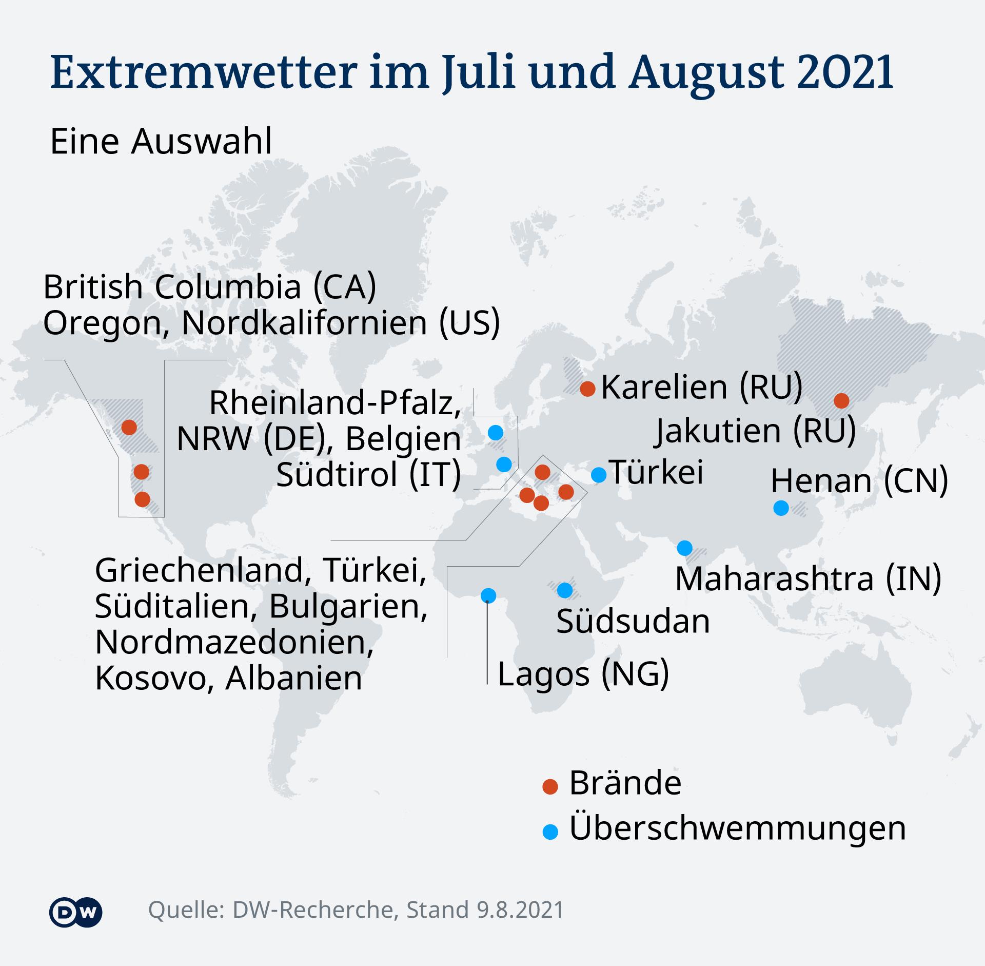 Infografik Extremwetter im Sommer 2021 DE