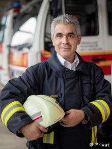 Ο Νίκος Μίχος, εθελοντής πυροσβέστης
