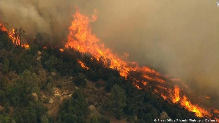 Albanien - Waldbrände