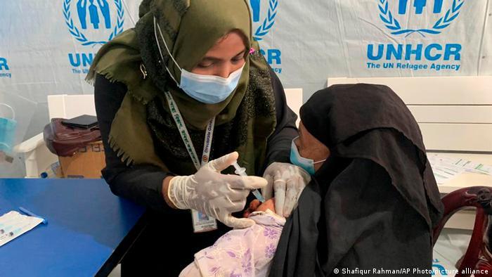 Cijepljenje u kampu UNHCR-a u Bangladešu