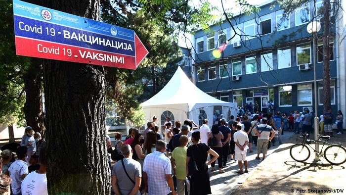 Nordmazedonien   Coronavirus   Impfkampagne in Skopje
