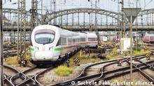 October 23, 2020, Munich, Bavaria, Germany: An Intercity Express from Deutsche Bahn enters the Munich main train station. (Credit Image: © Sachelle Babbar/ZUMA Wire