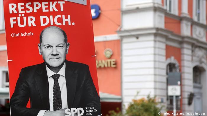 Кандидат в канцлеры Германии от СДПГ Олаф Шольц