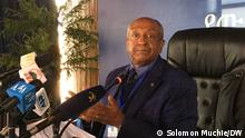 Äthiopien   Professor Biruk Hailu Chairperson of Ethiopian diaspora peace corps, Ethiopia on 10.08.2021.