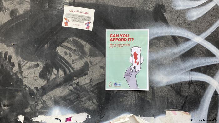 Libanon Beirut   Initiative Jeyetna kritisiert hohe Preise für Tampons ud Binden