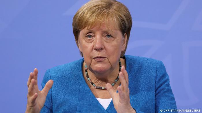 Berlin | Pressekonferenz zur Flutkatastrophe und Coronakrise: Angela Merkel