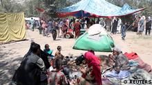 Internally displaced families from northern provinces, who fled from their homes due the fighting between Taliban and Afghan security forces, take shelter in a public park in Kabul, Afghanistan, August 10, 2021.REUTERS/Stringer
