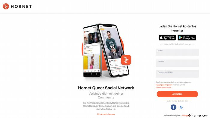 Hornet uygulamasına, App Store ve Play Store'dan erişim konusunda Almanya'da bir sorun yaşanmıyor.