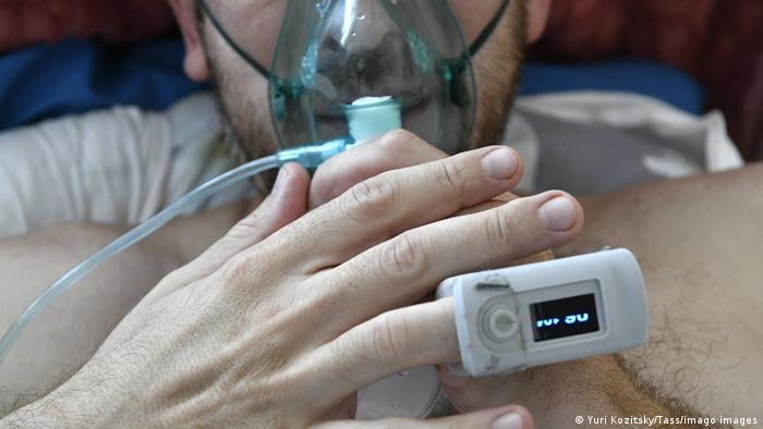 Paciente de COVID-19 en un hospital ruso.