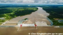 190925 -- SESAN, Sept. 25, 2019 -- Aerial photo taken on Sept. 20, 2019 shows a view of the Lower Sesan II hydroelectric power station at Sesan District of Stung Treng Province, Cambodia. The Lower Sesan II hydroelectric power station, born of cooperation between Cambodia and China under the framework of the Belt and Road Initiative, was inaugurated in December 2018. With a length of 6,500 meters, the 400-megawatt dam is the largest and the seventh one built by China in Cambodia. Photo by /Xinhua CAMBODIA-SESAN-CHINA-HYDROELECTRIC POWER STATION ChenxGang PUBLICATIONxNOTxINxCHN