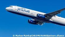 New York Vereinigte Staaten 1 März 2020: Ein Airbus A321 Flugzeug der JetBlue mit dem Kennzeichen N934JB auf dem Flughafen New York John F Kennedy (JFK) in den Vereinigten Staaten