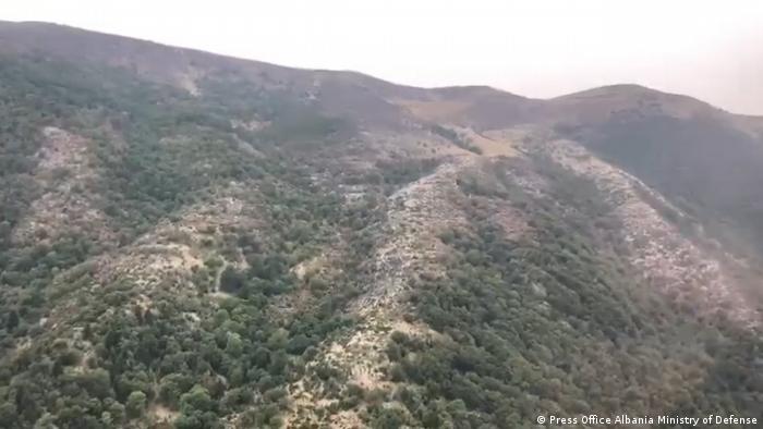 Albanien Brände auf Halbinsel Karaburun