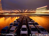 cars being shipped on the Rhine rhiver