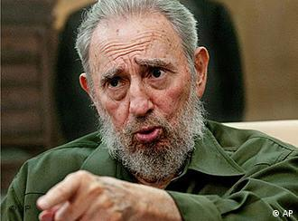 Kuba Fidel Castro Interview in Havanna (AP)