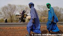 Fulani nomadic tribe members travel in the Barkedji-Dodji Forest, part of the Great Green Wall of the Sahara and the Sahel in Linguere department, Louga region, Senegal, July 14, 2021. REUTERS/Zohra Bensemra SEARCH BENSEMRA REFORESTATION FOR THIS STORY. SEARCH WIDER IMAGE FOR ALL STORIES