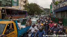 Description : The capital Dhaka has regained its real looks as city dwellers took streets after a long lockdown that had been enforced to prevent the coronavirus infection.People went out of home in the morning for their working places. Many of them fell in immense suffering due to public transports shortage.