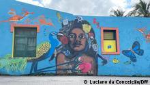 """Professionelle und Amateurkünstler kamen zusammen, um das Zentrum von Inhambane im Rahmen des Projekts """"Inhambane Cidade – Cidade Azul"""" mit Leben zu erfüllen."""