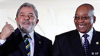 G. Afrika devlet başkanı Zuma (sağda), Brezilya eski lideri Lula