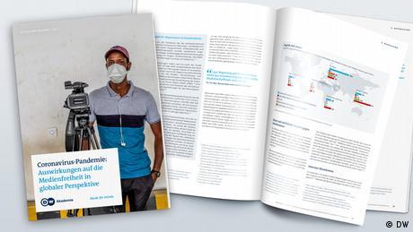 Mock up DW Akademie Studie Coronavirus-Pandemie Medienfreiheit